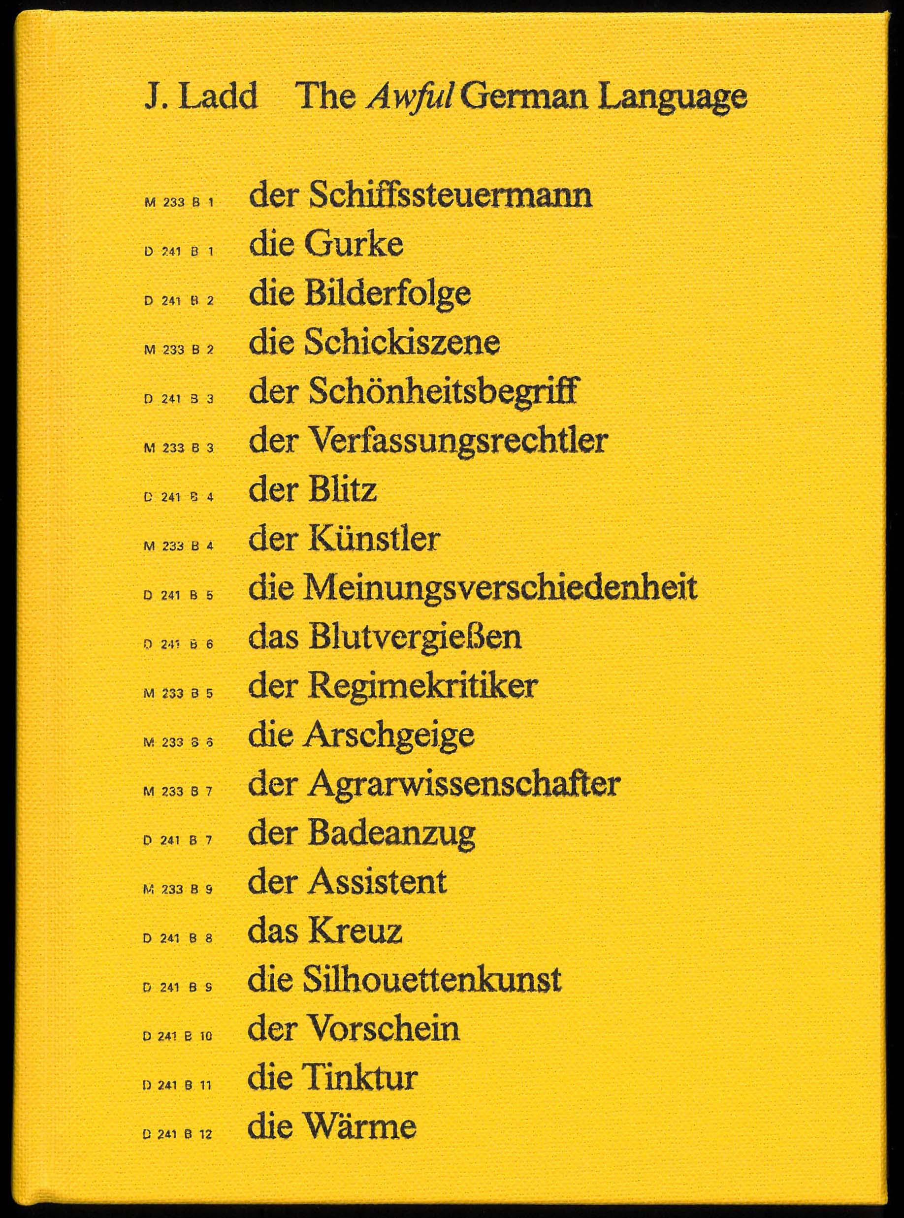 The Awful German Language Spector Books