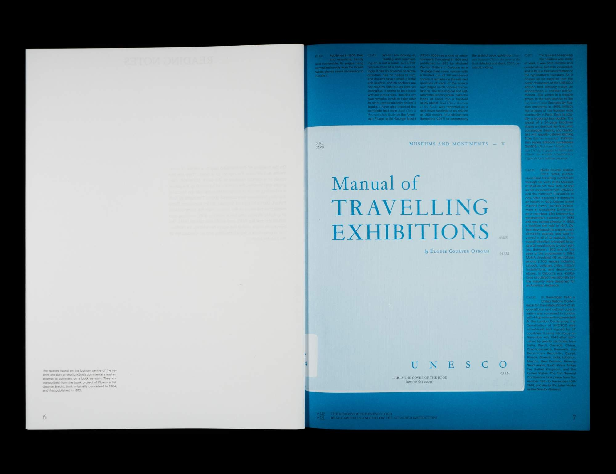 Re reading the Manual Travelling Exhibitions